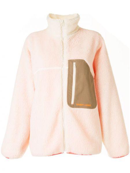 Белая куртка с капюшоном на молнии Sandy Liang