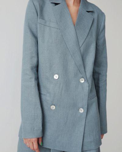 Льняной пиджак - голубой Stl.katin
