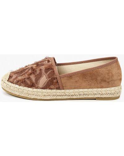 Текстильные коричневые туфли Ideal Shoes®