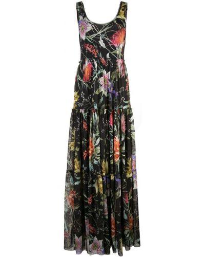 Платье макси с цветочным принтом с вырезом Fuzzi