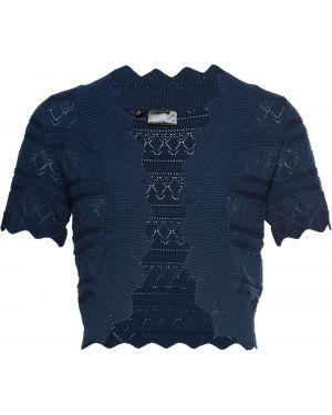 Вязаное синее вязаное болеро Bonprix