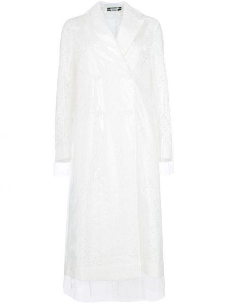Белый хлопковый тренчкот с вышивкой Calvin Klein 205w39nyc