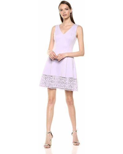 Платье с V-образным вырезом - сиреневое Vince Camuto