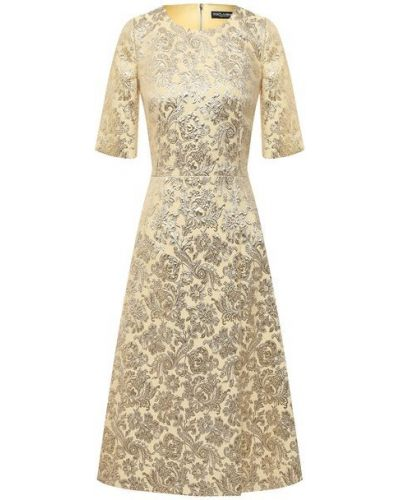 Шелковое платье - золотое Dolce & Gabbana