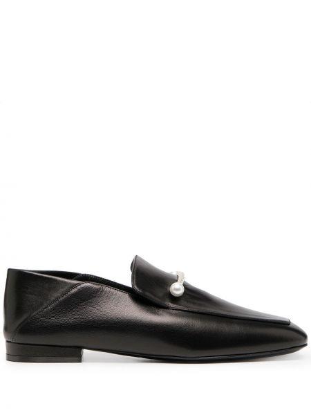 Czarny loafers metal plac kwadratowy Coliac