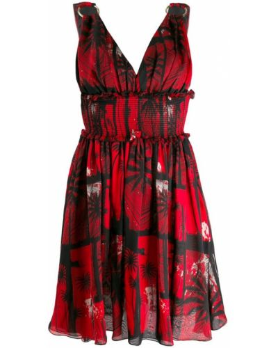 Платье с V-образным вырезом шелковое Fausto Puglisi