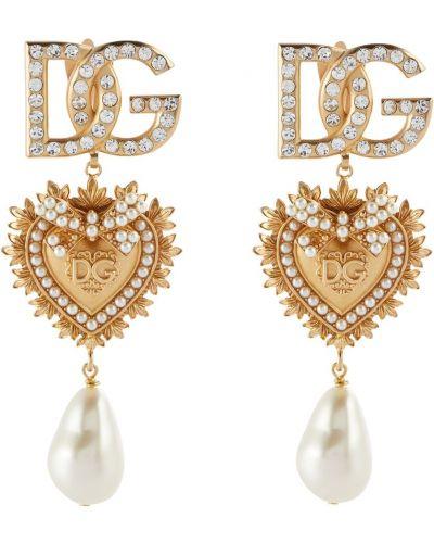 Клипсы - золотые Dolce & Gabbana