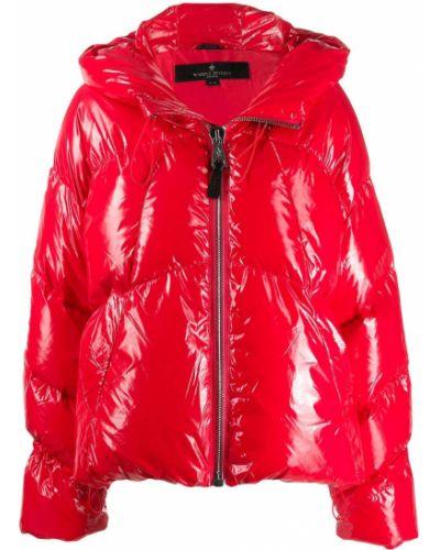 Кожаная куртка с капюшоном длинная Nicole Benisti