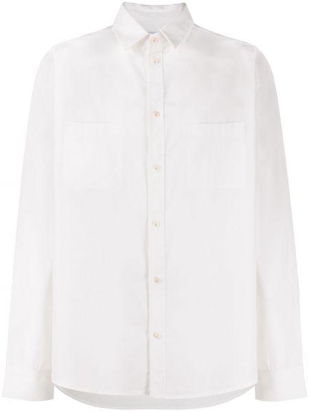 Biała klasyczna koszula bawełniana z długimi rękawami Ih Nom Uh Nit