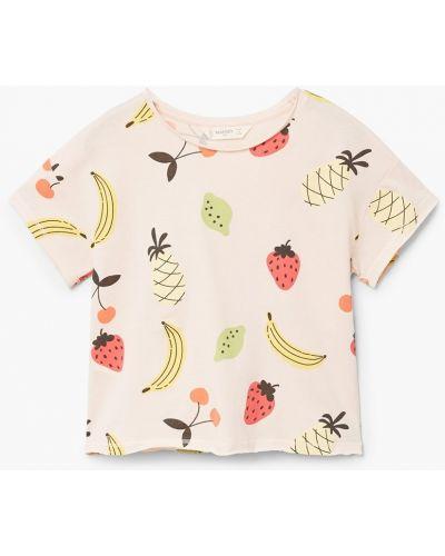 Розовая футболка Mango Kids