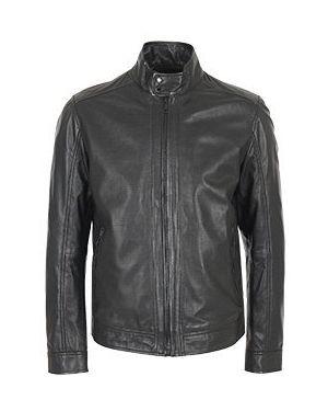 Кожаная черная кожаная куртка Strellson