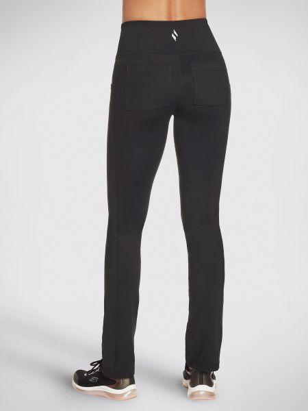 Черные с завышенной талией спортивные брюки с поясом Skechers