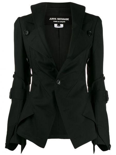 Черный приталенный пиджак с карманами Junya Watanabe