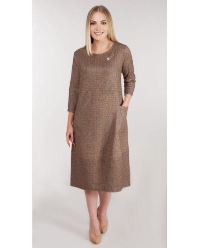 Свободное шерстяное платье бохо Rise