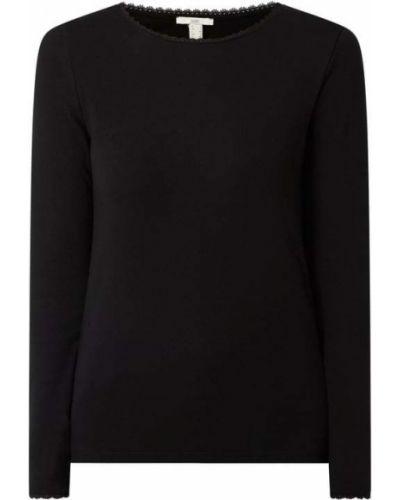 Czarna bluzka bawełniana Edc By Esprit