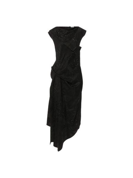 Платье шелковое из вискозы Loewe