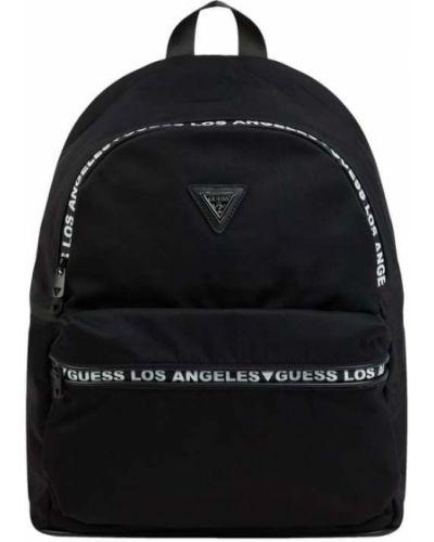 Czarny plecak na laptopa Guess