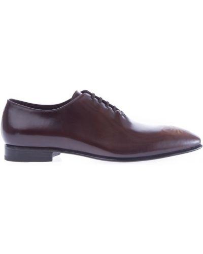 Туфли на шнуровке итальянские с узором Stefano Ricci