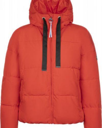 Утепленная красная куртка на молнии Luhta
