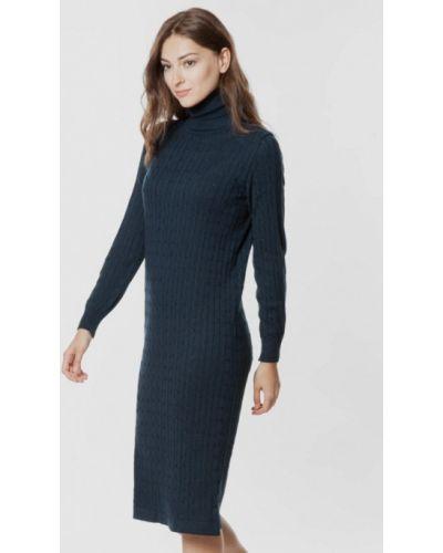 Вязаное платье - синее Arber