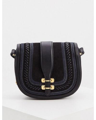 Черная сумка через плечо из натуральной кожи Alberta Ferretti