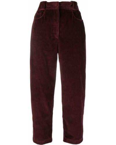 Spodnie sztruksowe z paskiem Cedric Charlier