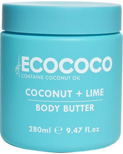Зеленый кожаный крем для тела питательный Ecococo