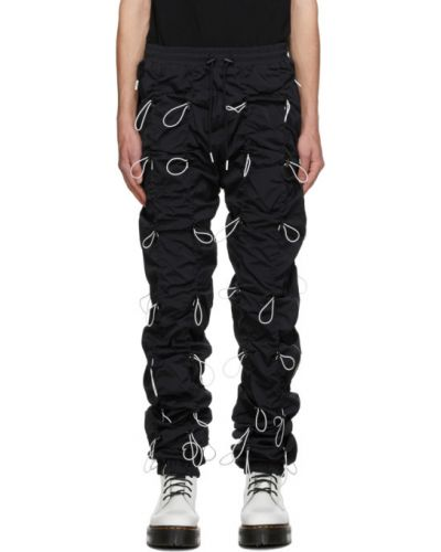 Нейлоновые черные брюки с манжетами с карманами 99% Is