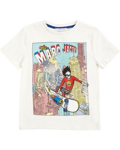 Bawełna bawełna biały koszula Little Marc Jacobs