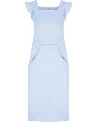 Хлопковое повседневное платье с оборками Olympia Le Tan