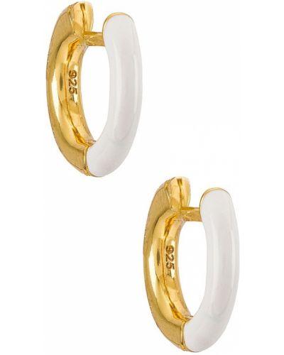 Białe złote kolczyki sztyfty Baublebar