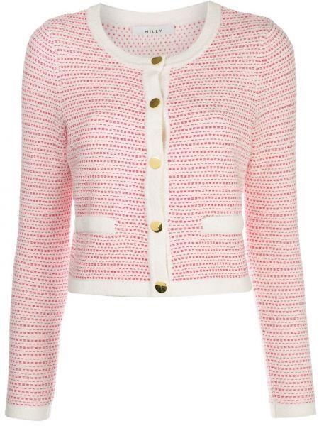 Длинная куртка розовая на пуговицах Milly