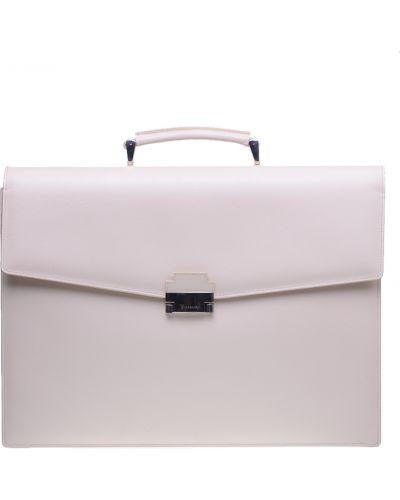 Кожаный портфель - бежевый Tigamaro
