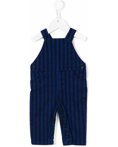 Хлопковый синий комбинезон с карманами Knot