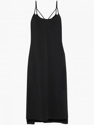 Трикотажное черное платье миди стрейч Tart Collections