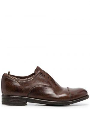 Кожаные коричневые оксфорды на каблуке Officine Creative
