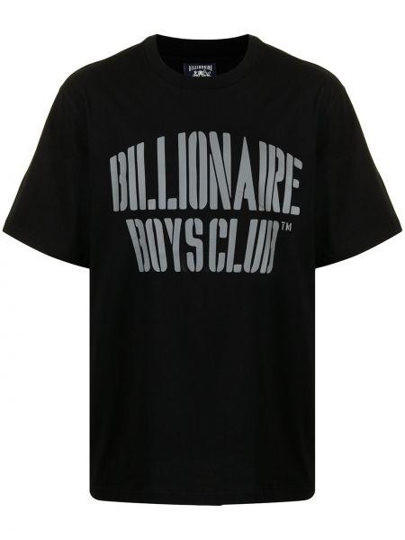 Черная хлопковая футболка Billionaire Boys Club