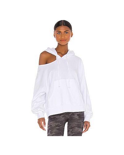 Хлопковый белый свитер с подкладкой с вырезом Lna