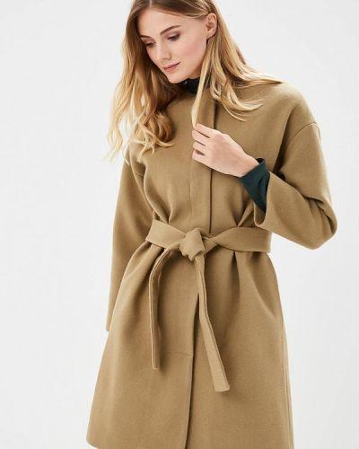 Пальто с капюшоном хаки Pepen