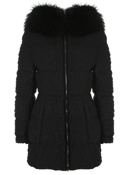 Куртка с капюшоном на молнии с опушкой Prada