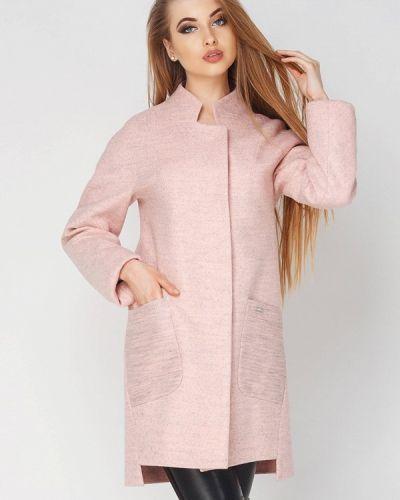 Розовое пальто весеннее Leo Pride