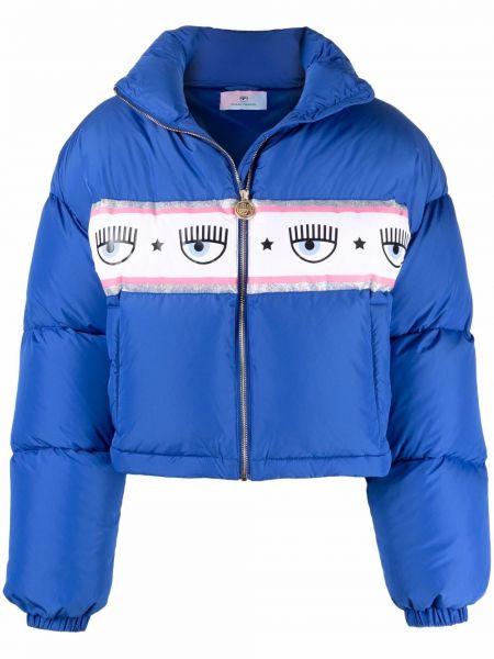 Синяя куртка из полиэстера Chiara Ferragni