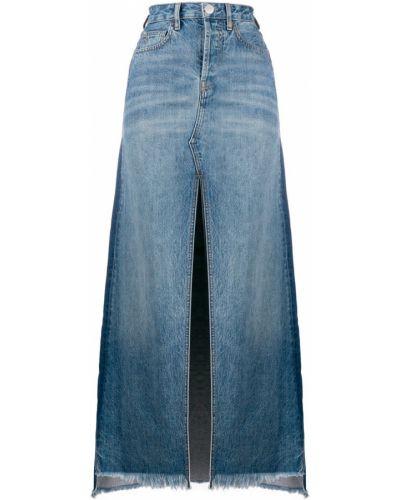 Джинсовая юбка макси - синяя Marcelo Burlon. County Of Milan