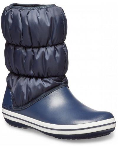 Теплые сапоги - синие Crocs