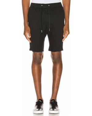 Czarne szorty jeansowe bawełniane vintage Zanerobe