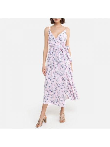 Платье с поясом с запахом на бретелях La Redoute