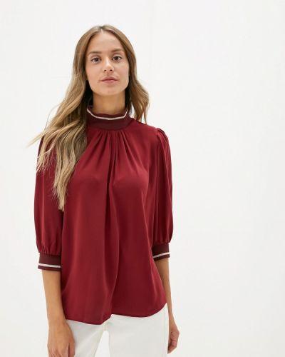 Блузка с длинным рукавом бордовый турецкий Adl