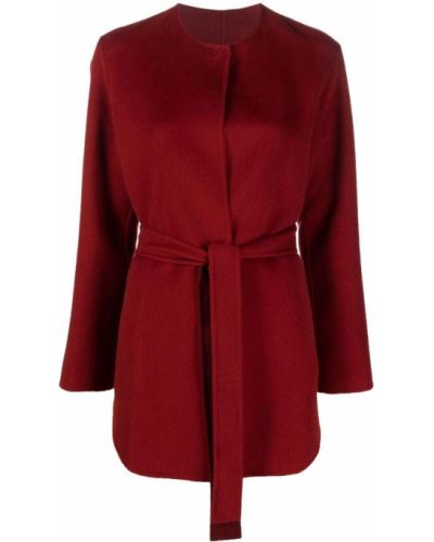 Красное пальто из полиэстера Manzoni 24