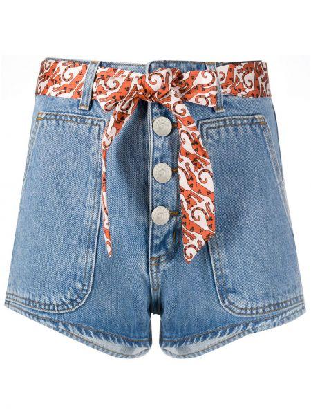 Джинсовые шорты песочный с карманами Sandro Paris