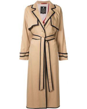 Черное длинное пальто с капюшоном на пуговицах Loveless